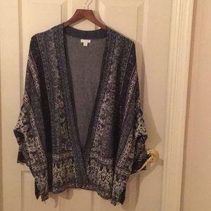 Kimono style sweater- no buttons